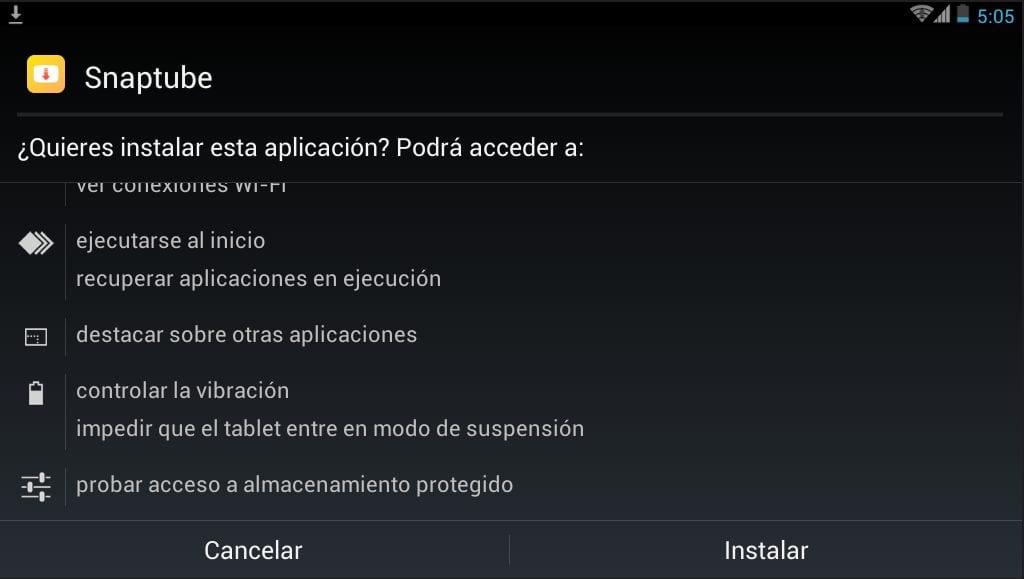 aplicación se instale en nuestro dispositivo