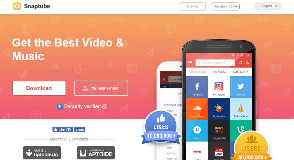 Descargar la App snaptube gratis